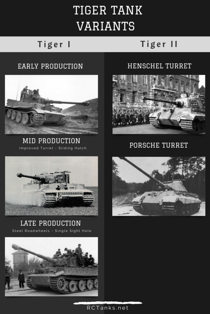 Tiger tank Variants