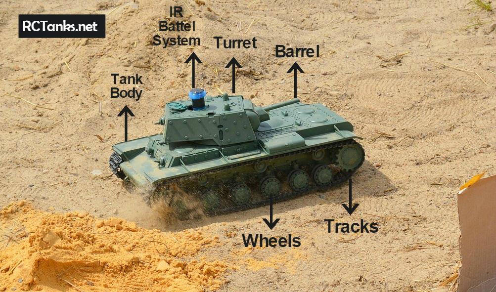 rc tank main parts