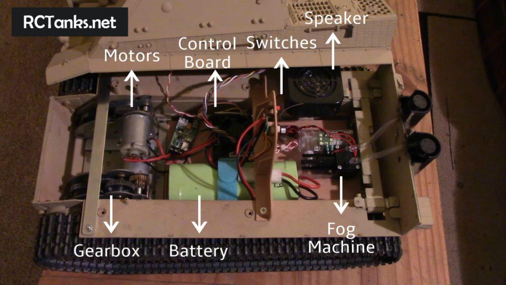 rc tank inner parts